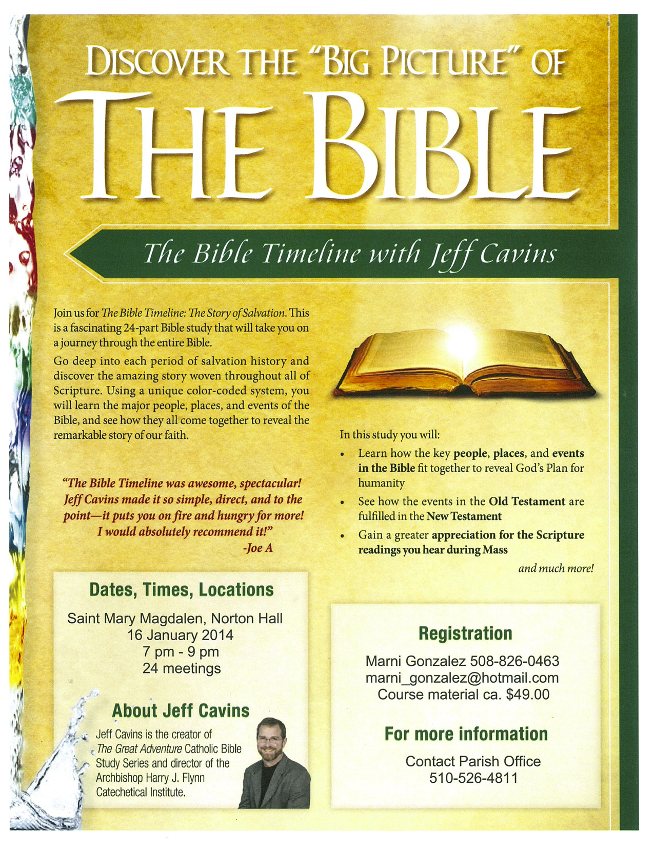 Bible Study: The Bible Timeline with Jeff Cavins | Saint Mary
