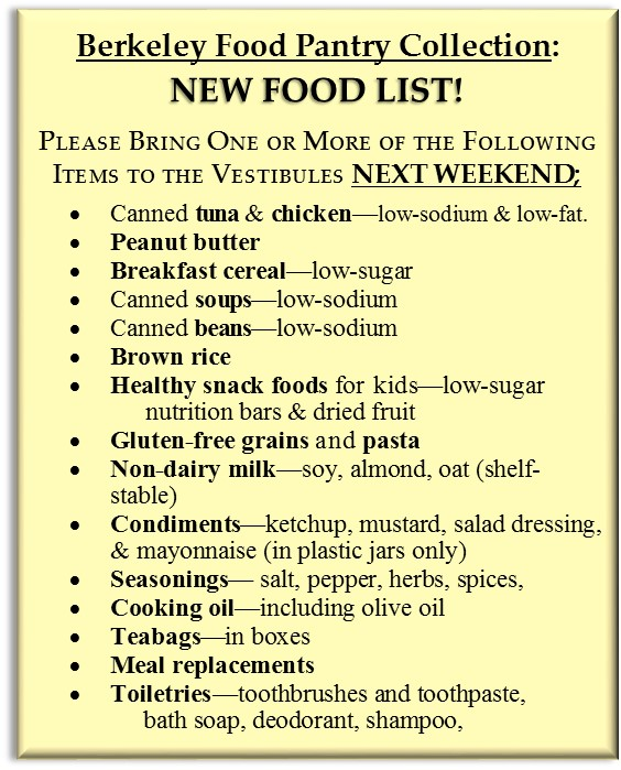 Berkeley Food Pantry Collection Saint Mary Magdalen Parish